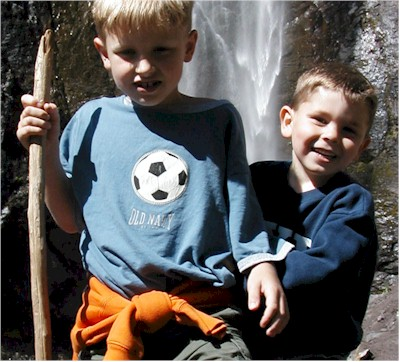 Zach and Chase at Comet Falls